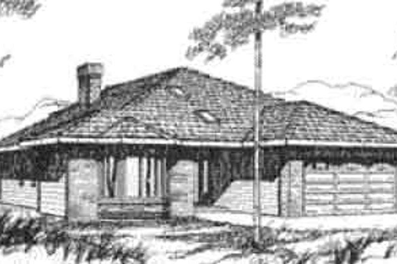 Traditional Exterior - Front Elevation Plan #117-217 - Houseplans.com