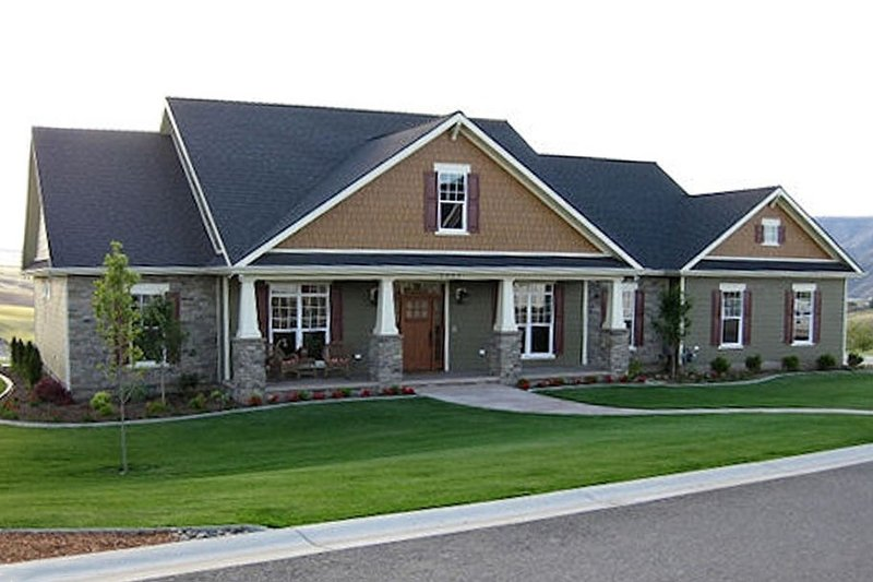 Craftsman Exterior - Front Elevation Plan #21-349 - Houseplans.com