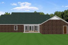 Southern Exterior - Rear Elevation Plan #44-153