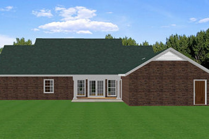 Southern Exterior - Rear Elevation Plan #44-153 - Houseplans.com