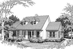 European Exterior - Front Elevation Plan #14-124