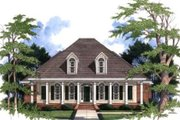 Southern Style House Plan - 4 Beds 4 Baths 2406 Sq/Ft Plan #37-110 Exterior - Front Elevation