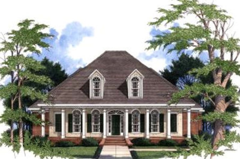 Architectural House Design - Southern Exterior - Front Elevation Plan #37-110