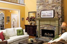 Country Interior - Family Room Plan #929-502