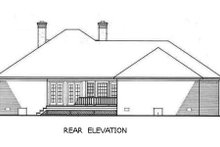 Home Plan - Traditional Exterior - Rear Elevation Plan #45-128