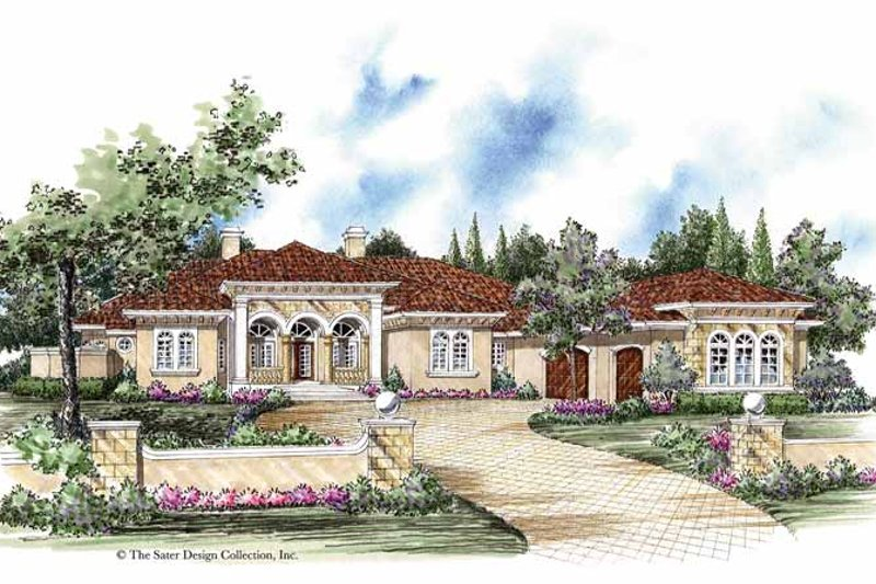 Home Plan - Mediterranean Exterior - Front Elevation Plan #930-263