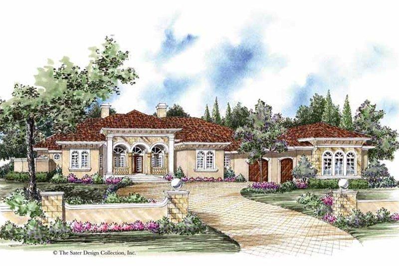 House Plan Design - Mediterranean Exterior - Front Elevation Plan #930-263
