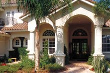 House Plan Design - Mediterranean Exterior - Front Elevation Plan #417-748