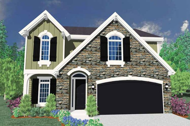 Traditional Exterior - Front Elevation Plan #509-273 - Houseplans.com