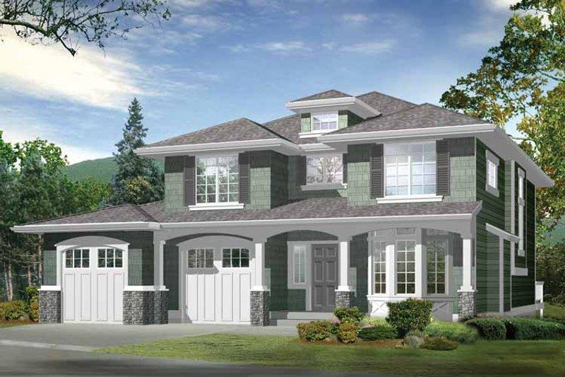 Craftsman Exterior - Front Elevation Plan #132-291 - Houseplans.com