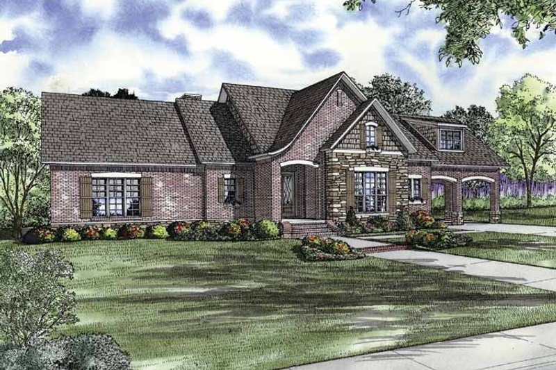 Traditional Exterior - Front Elevation Plan #17-2851 - Houseplans.com