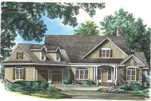 Craftsman Exterior - Front Elevation Plan #929-754