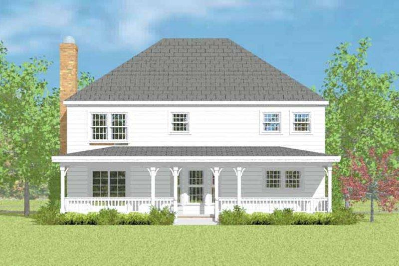 House Plan Design - Colonial Exterior - Rear Elevation Plan #72-1083