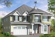 House Plan Design - Craftsman Exterior - Front Elevation Plan #132-462