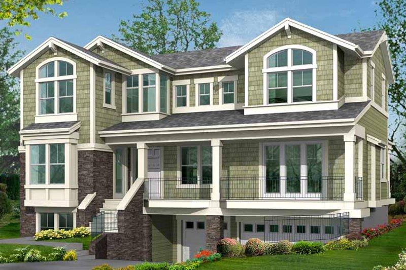 Craftsman Exterior - Front Elevation Plan #132-393 - Houseplans.com