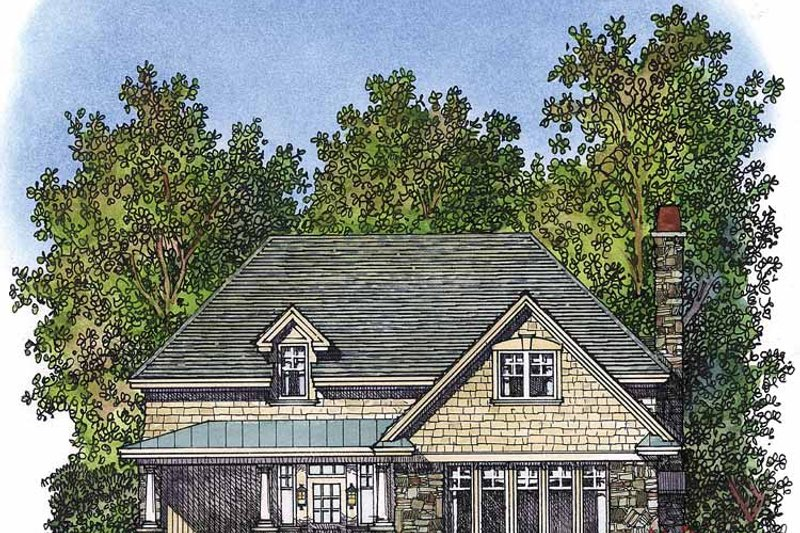 Home Plan - Country Exterior - Front Elevation Plan #1016-70