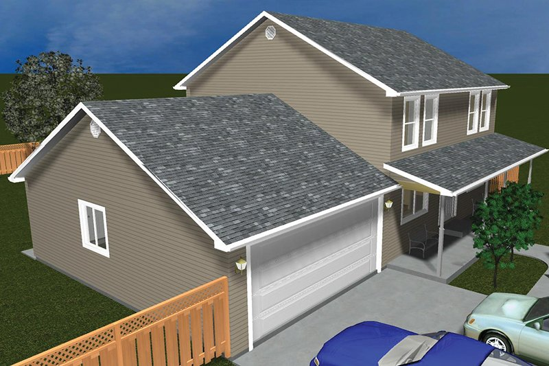 Traditional Exterior - Front Elevation Plan #1060-33 - Houseplans.com