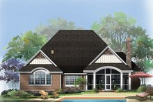 Craftsman Exterior - Rear Elevation Plan #929-948