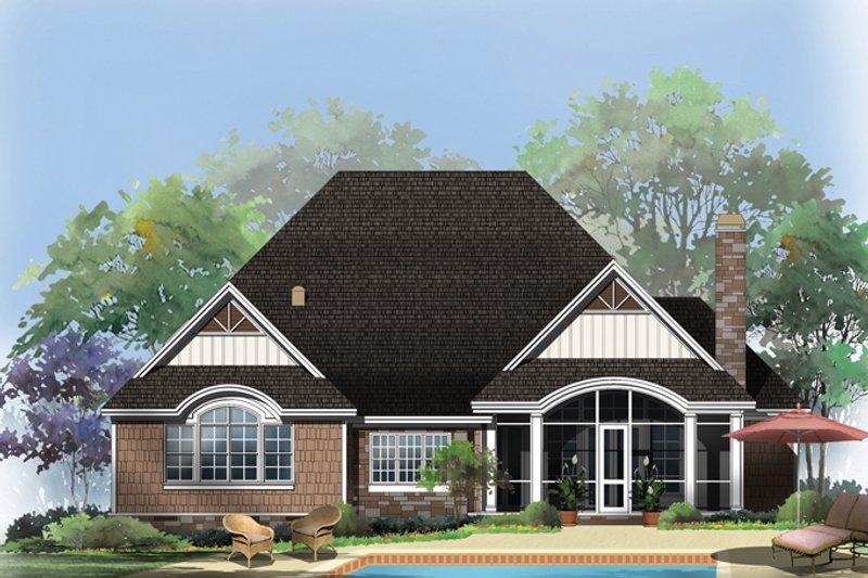 Craftsman Exterior - Rear Elevation Plan #929-948 - Houseplans.com