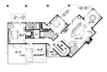 Ranch Floor Plan - Lower Floor Plan Plan #942-31