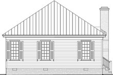 Country Exterior - Rear Elevation Plan #137-370