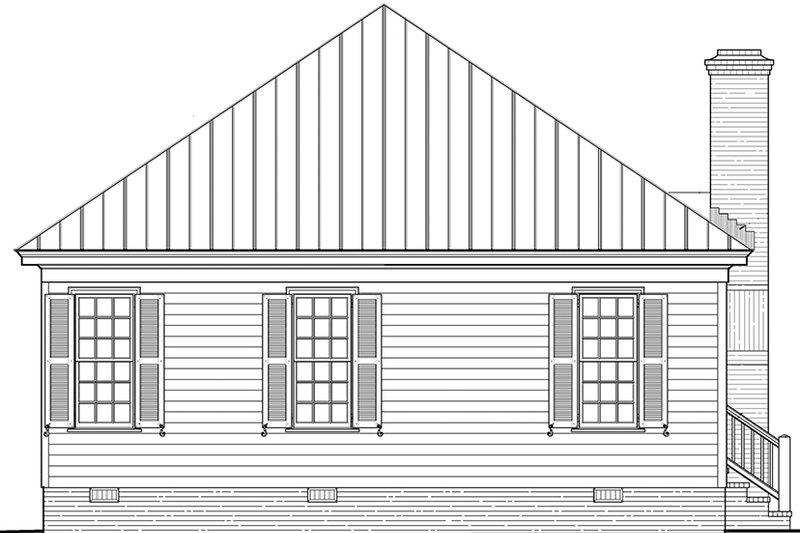 Country Exterior - Rear Elevation Plan #137-370 - Houseplans.com