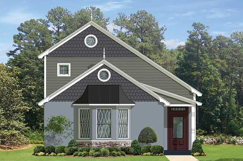 European Exterior - Front Elevation Plan #1058-108