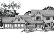 Traditional Style House Plan - 3 Beds 2.5 Baths 1952 Sq/Ft Plan #51-103 Exterior - Front Elevation