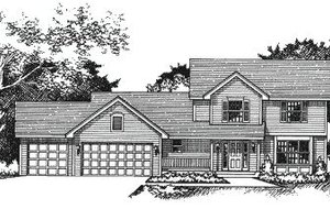 Traditional Exterior - Front Elevation Plan #51-103
