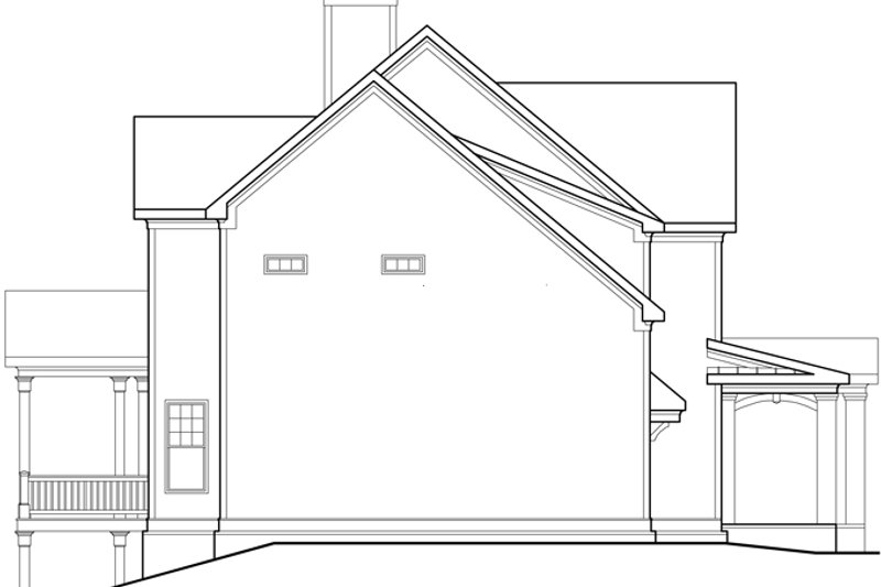 Traditional Exterior - Other Elevation Plan #927-940 - Houseplans.com