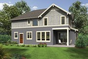 Craftsman Style House Plan - 3 Beds 2.5 Baths 2936 Sq/Ft Plan #48-914 Exterior - Rear Elevation