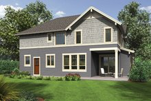 Craftsman Exterior - Rear Elevation Plan #48-914
