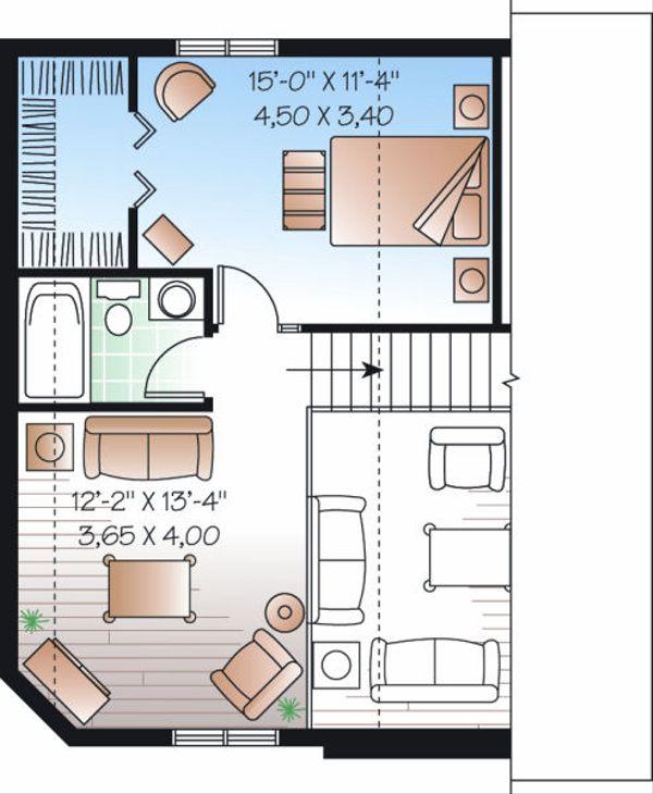 Traditional Floor Plan - Upper Floor Plan Plan #23-867