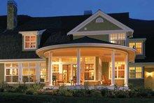 House Plan Design - Colonial Exterior - Rear Elevation Plan #966-62