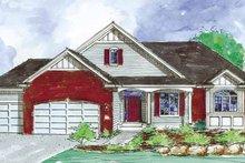 Architectural House Design - European Exterior - Front Elevation Plan #320-991