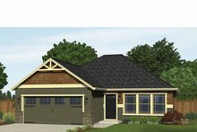Ranch Exterior - Front Elevation Plan #943-30
