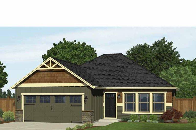 Ranch Exterior - Front Elevation Plan #943-30 - Houseplans.com