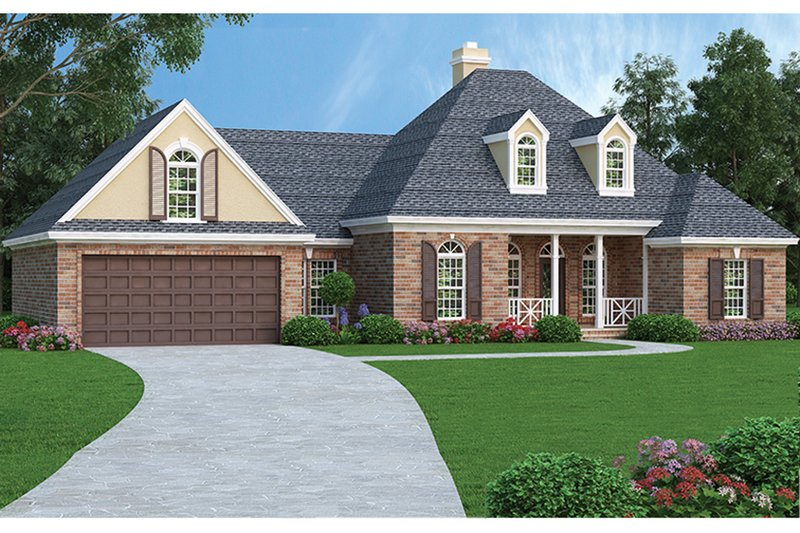 Dream House Plan - Traditional Exterior - Front Elevation Plan #45-567