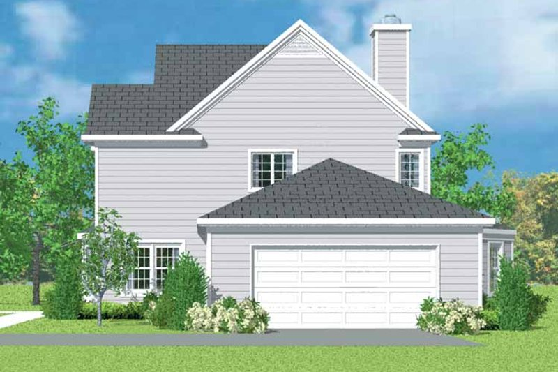 Country Exterior - Other Elevation Plan #72-1101 - Houseplans.com