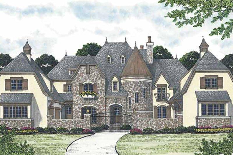 Dream House Plan - European Exterior - Front Elevation Plan #453-608