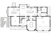 Traditional Style House Plan - 4 Beds 2.5 Baths 4279 Sq/Ft Plan #497-46 Floor Plan - Main Floor Plan