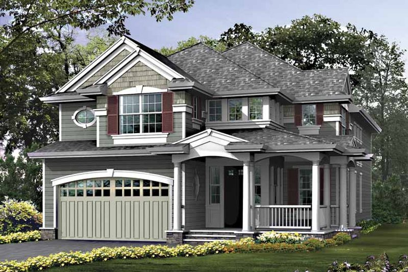 Craftsman Exterior - Front Elevation Plan #132-404