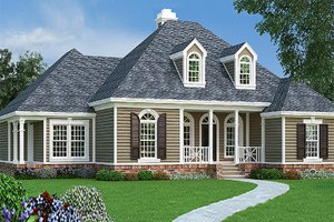 Exterior - Front Elevation Plan #45-570