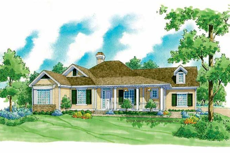 Country Exterior - Front Elevation Plan #930-253