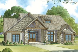 Architectural House Design - Ranch Exterior - Front Elevation Plan #17-3408