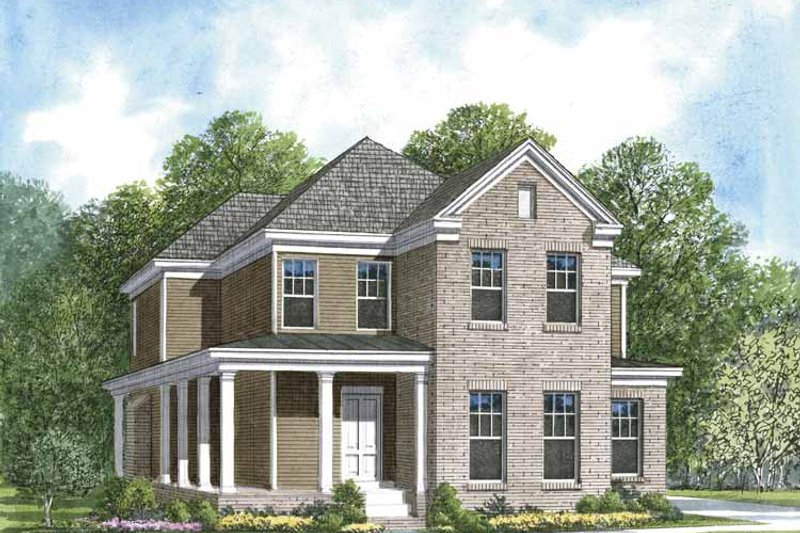 Dream House Plan - Colonial Exterior - Front Elevation Plan #952-198