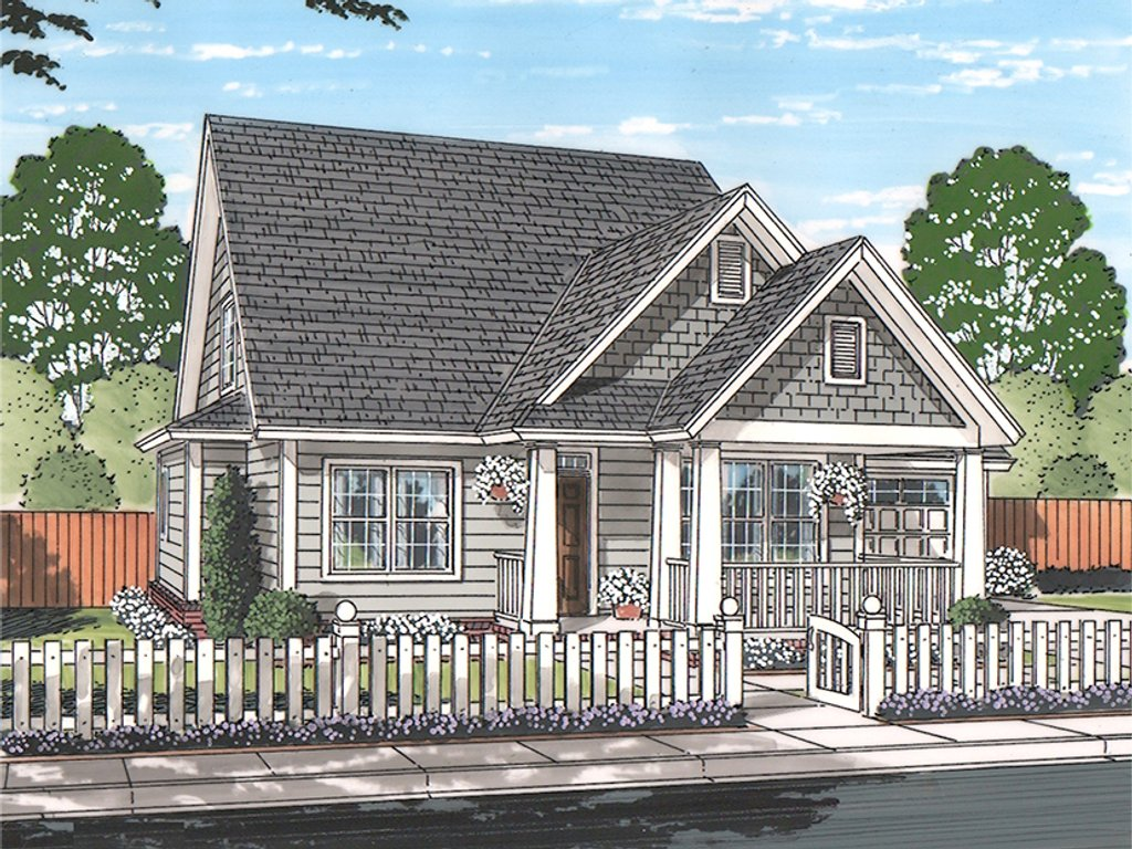 Traditional Exterior Front Elevation Plan 513 2162
