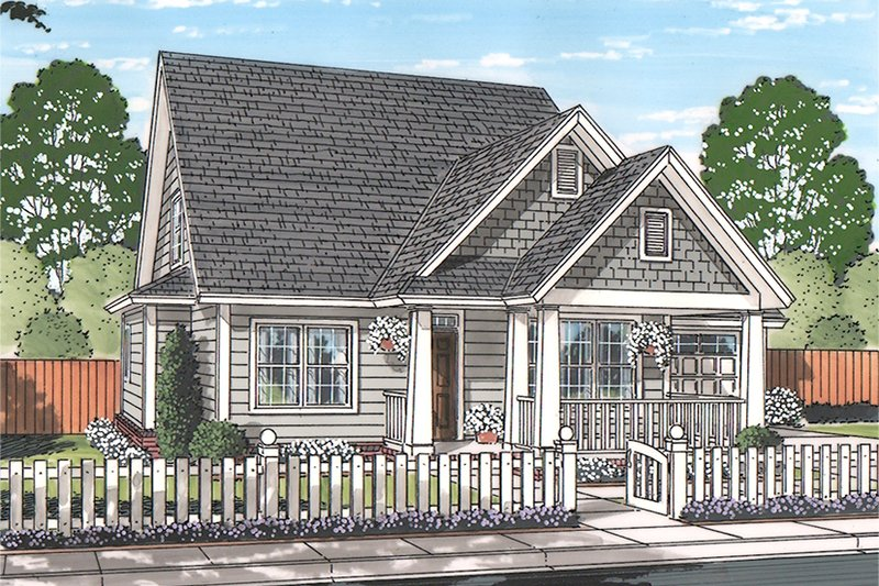 Dream House Plan - Traditional Exterior - Front Elevation Plan #513-2162