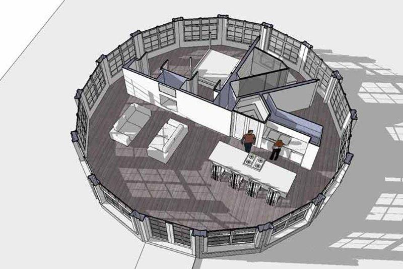 Contemporary Interior - Family Room Plan #64-294 - Houseplans.com