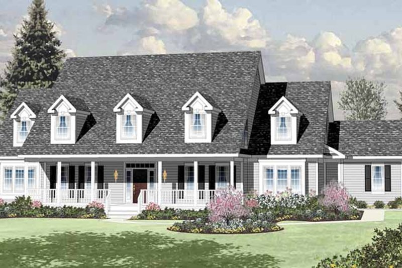 Colonial Exterior - Front Elevation Plan #328-460 - Houseplans.com